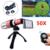50X Metal Teleobjetivo Zoom Lentes Lente de la cámara + Tripod + Case + ojo de Pez Gran Angular Macro lentes para samsung s3 s4 s5 s6 s7 edge note 7