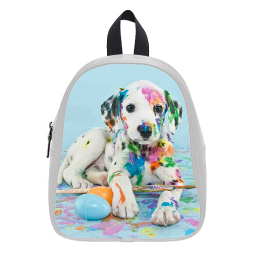 Hot Sale Watercolor Backpacks Custom Stylish Puppy Kid's School Bags For  Boys Girls Free Shipping PC--0031