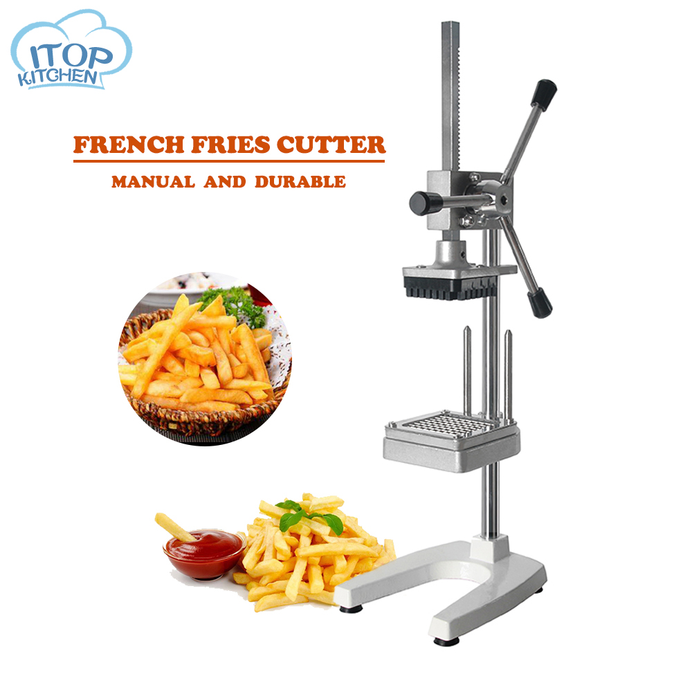 Cutting Machine Vertical Fries Cutter Machine Cut Into Strips Aluminum Alloy Potato Chipper Commercial Kitchen Potato Maker Tool|Manual Slicers| |  - title=