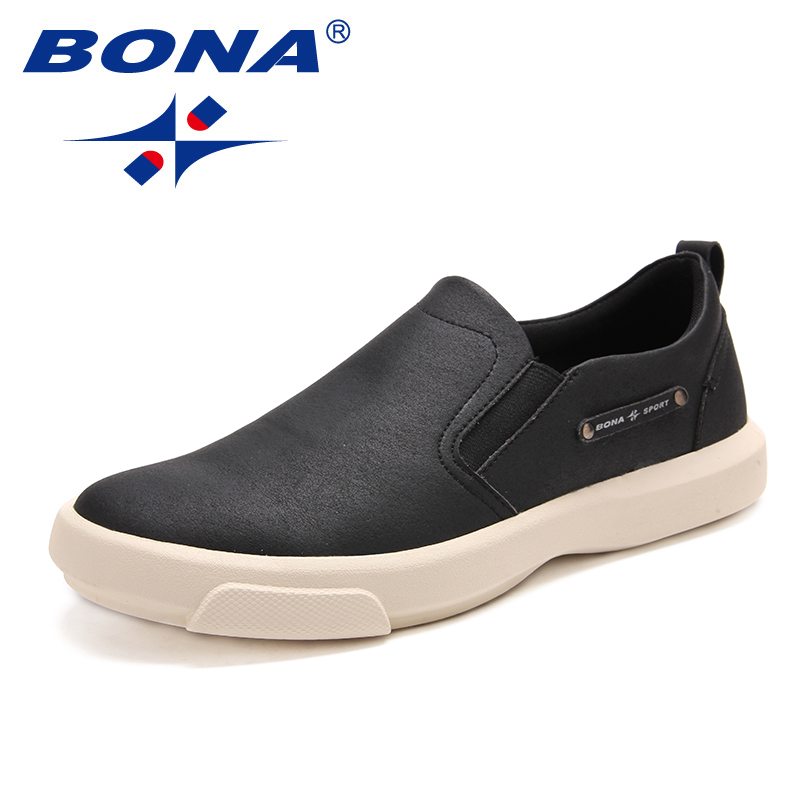 BONA New Arrival Classics Style Men Casual Shoes Elastic Band Men Loafers Comfortable Men Shoes Light Soft Fast Free Shipping