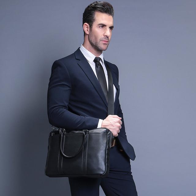 VORMOR promocja prosta znana marka biznes mężczyźni Aktówka torba luksusowa Skórzana Torba na laptopa Man torba na ramię Bolsa Maleta