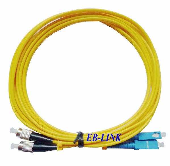 Оптический кабель, Sc / PC-FC / pc, 3.0 мм, Одномодовый 9/125, Дуплекс, Sc патч-шнуру 15 м