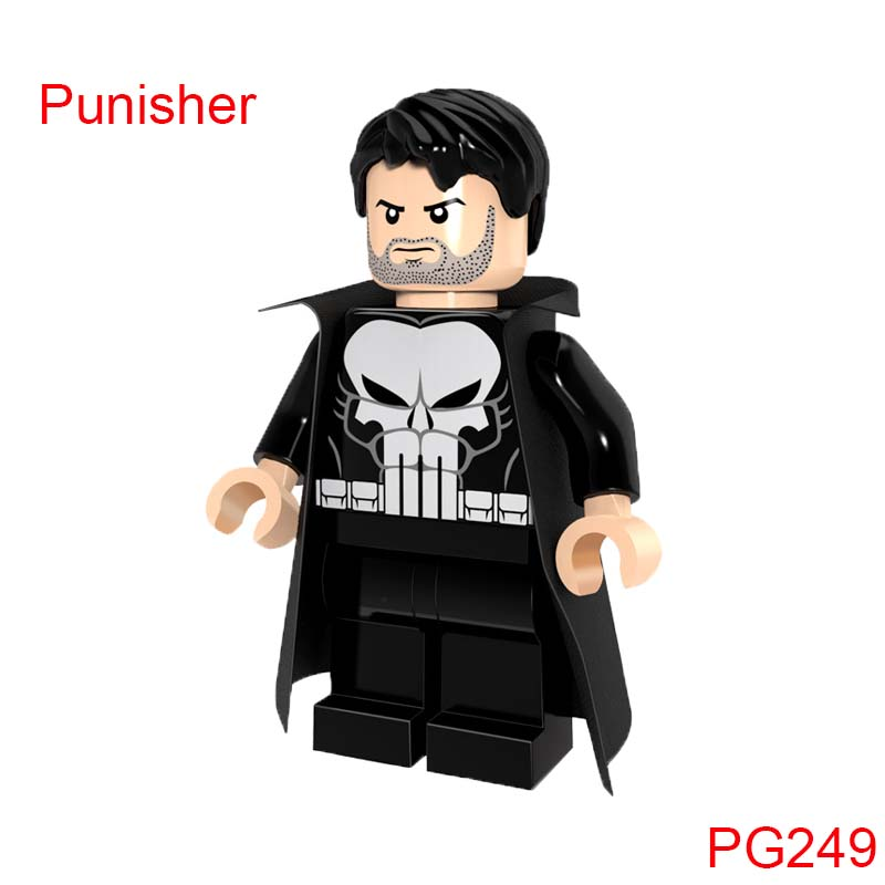 Building Blocks Punisher With Coat Dc Action Figures Super Heroes Avengers Action Bricks Diy Toys For