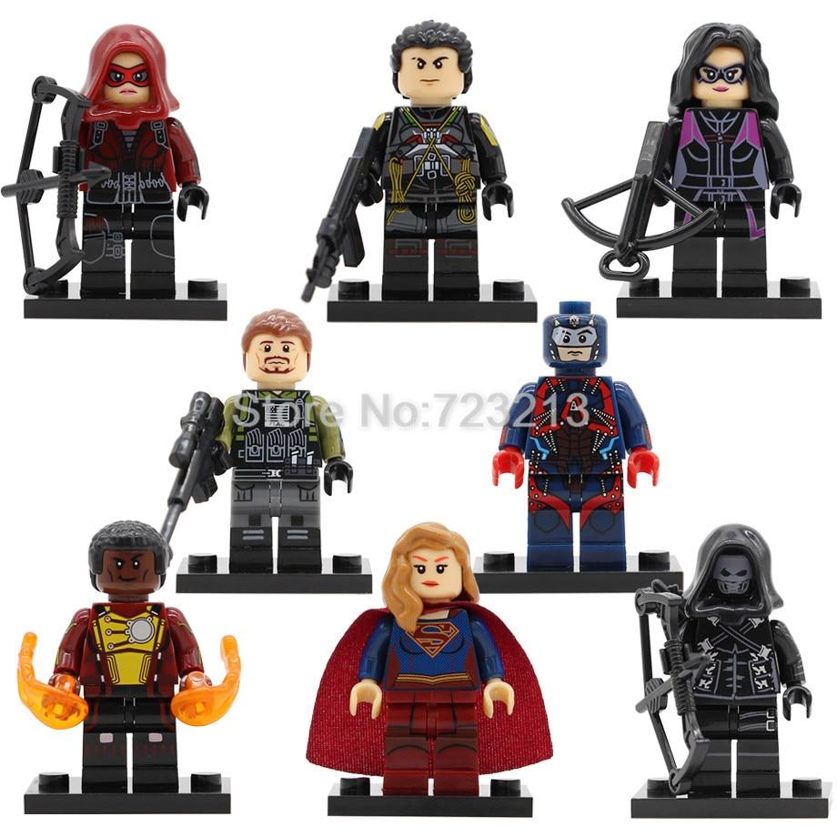 Super Hero Figure Prometheus Slipknot Supergirl Huntress Rick Flag Emiko Queen Building Blocks Set Model Bricks Toys X0179 prometheus omnibus