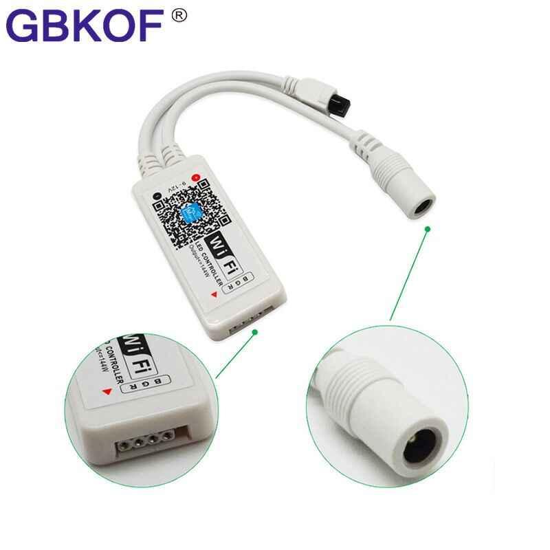 Controlador inalámbrico WiFi Magic Home DC5V 12V 24V Bluetooth, controlador LED RF RGB/RGBW IR para 5050 WS2811 WS2812B Pixel
