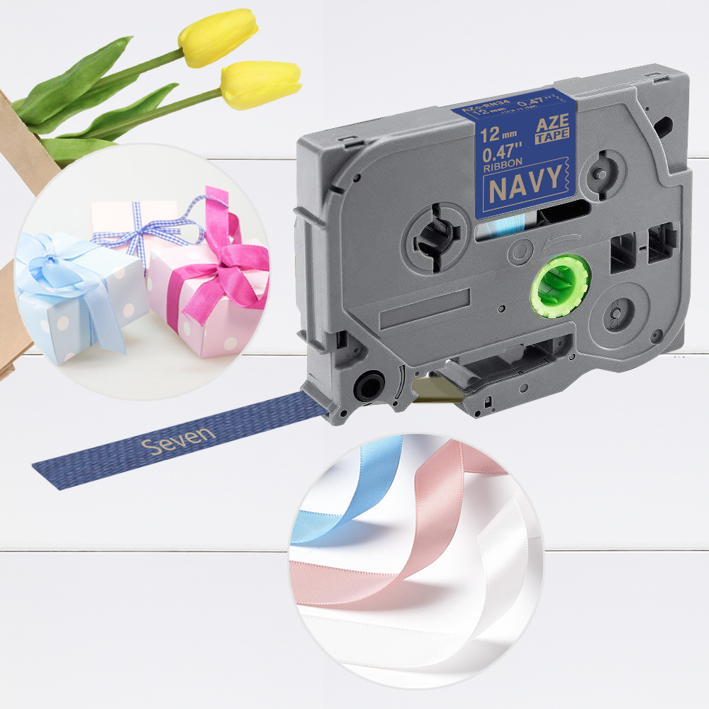 1 Pack Label Tape Compatible For Brother TZe-R231 R234 RE34 R534 RE31 TZe-RN34 TZe-RW34 12mm*4m Non-adhesive Ribbon Label Maker