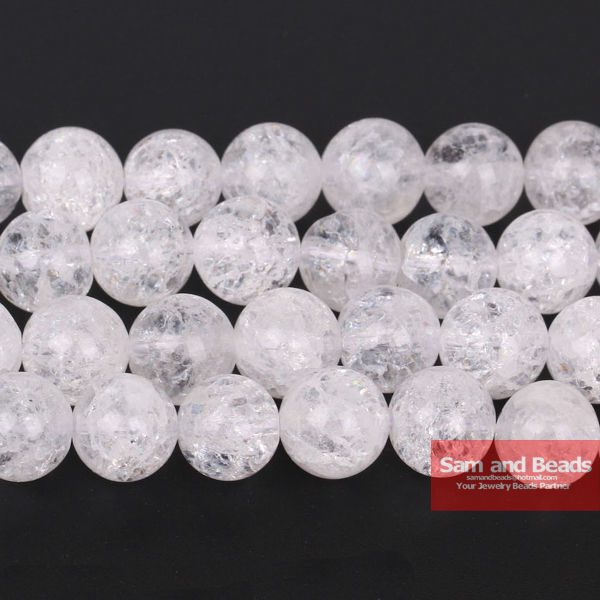 Free Shipping Natural White Snow Cracked Crystal Frizzling Rock Popcorn Stone Loose Beads For Jewelry Making CCB01