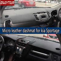 For KIA Sportage JE KM SL QL 2005-2019 Leather Dashmat Dashboard Cover  Pad Dash Mat 2009 2010 2011 2012 2013 2014 2015 2017