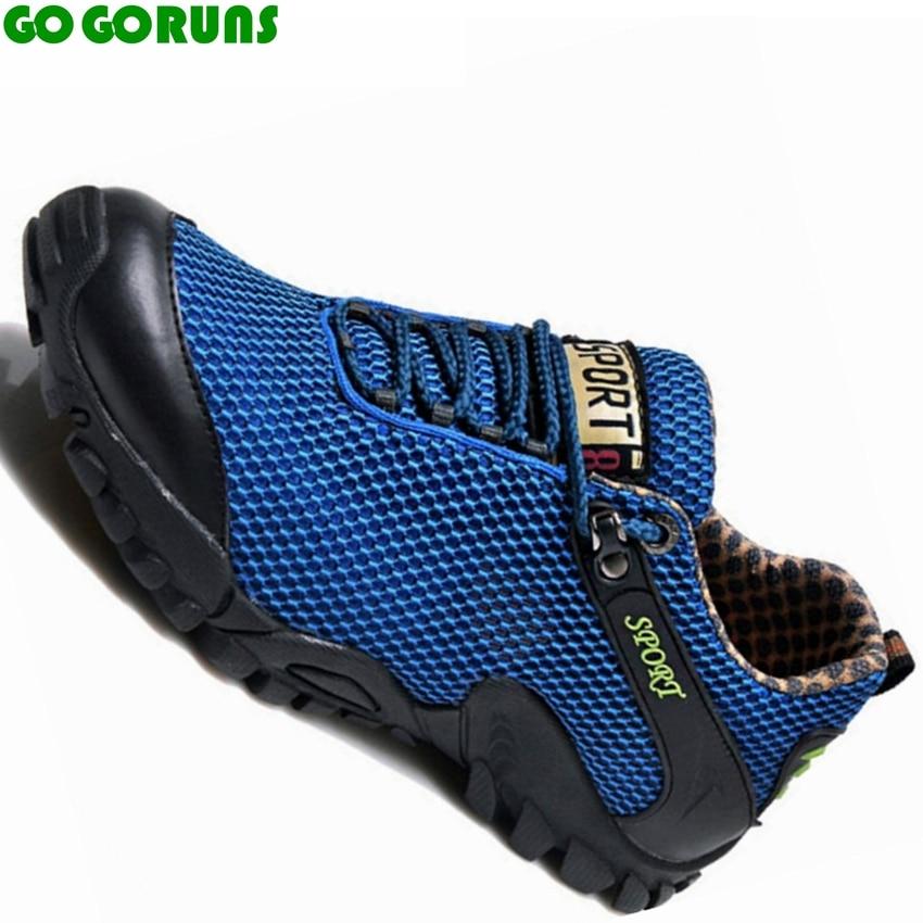 sommer stof ultralette åndbar udendørs mærke sports trekking vandreture sko mænd sneakers vand opstrøms sko stor størrelse h35d8