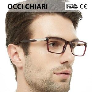 Image 2 - OCCI CHIARI Eyewear Frames Optical Eyeglasses Eyewear Gafas Rectangle Men Black Prescription Glasses Frames Clear Lens W CAPATI