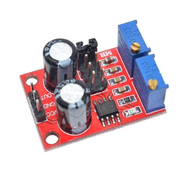 1PCS NE555 pulse frequency, duty cycle adjustable module,square/rectangular wave signal generator,stepping motor driver