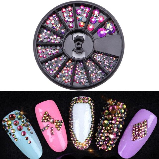 Monja Nail Art Decor Mixed Size Colorful Acrylic Diamond Crystal Glitter Rhinestones Accessories Uv Gel