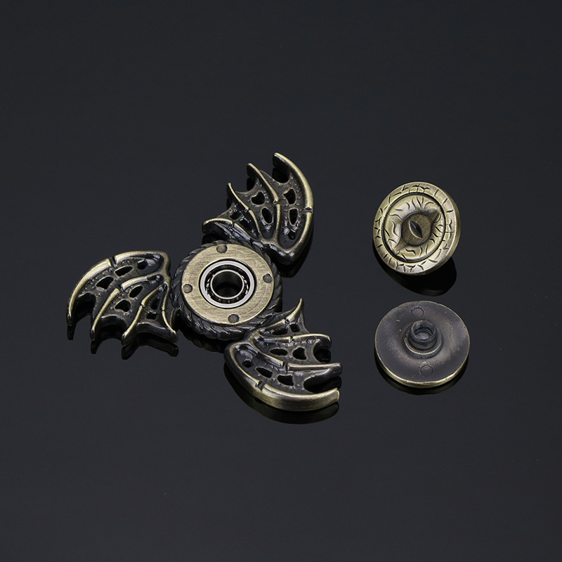 Free Shipping 100pcs/lot Game of Thrones Fidget Spinner Toys Dragon Eyes Hand Spinner Metal Toys Finger Stress Tri Spinner Toy