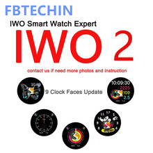 Bluetooth Smart Watch IWO2 42mm IPS Screen Heart Rate Message Notifier Watch W52 for IPHONE X 8 7 6 XIAOMI SAMSUNG Huawei