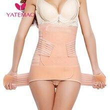YATEMAO 3PCS/set Belly belt Waist Shaper Postpartum Abdomina