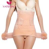YATEMAO 3PCS/set Belly belt Waist Shaper Postpartum Abdominal Belt Recovery Belly/abdomen/pelvis Shapewear Breathable Belly