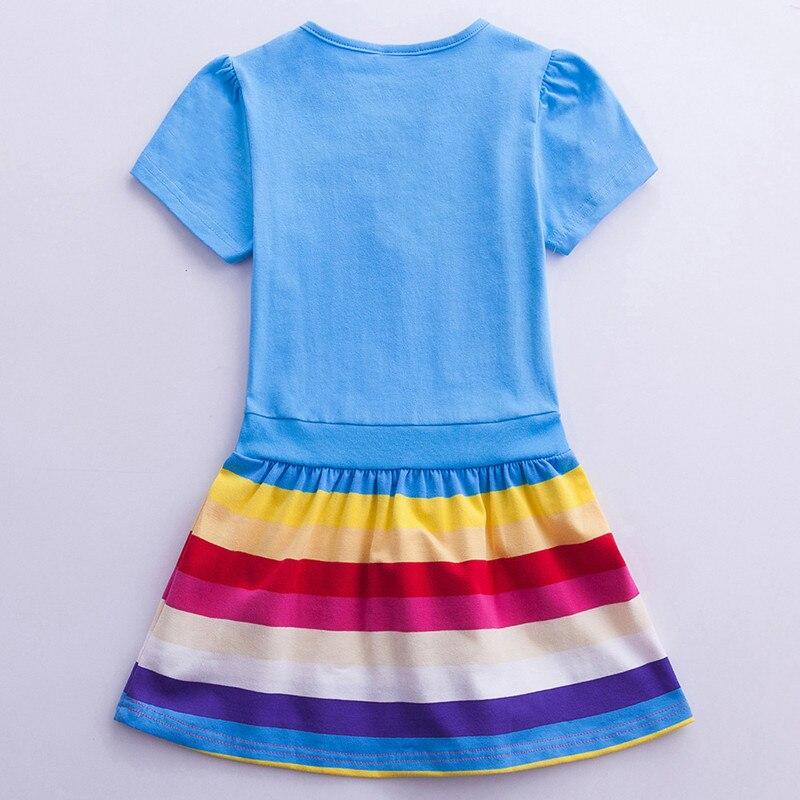 Girls Unicorn Dress Costume 2019 Summer Children Cotton Cartoon Rainbow Unicorn Dress Baby Girls Casual Dresses For Kids Clothes (4)