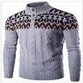 2016 inverno estilo folk casaco camisola dos homens polo camisola dos homens elegante comportamento xl cinza 3 cores