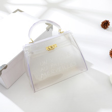 Tote Bag Designer Purse Crossbody Bag 2018  Handbag Women Bag Clear  Transparent PVC Bag Candy Color