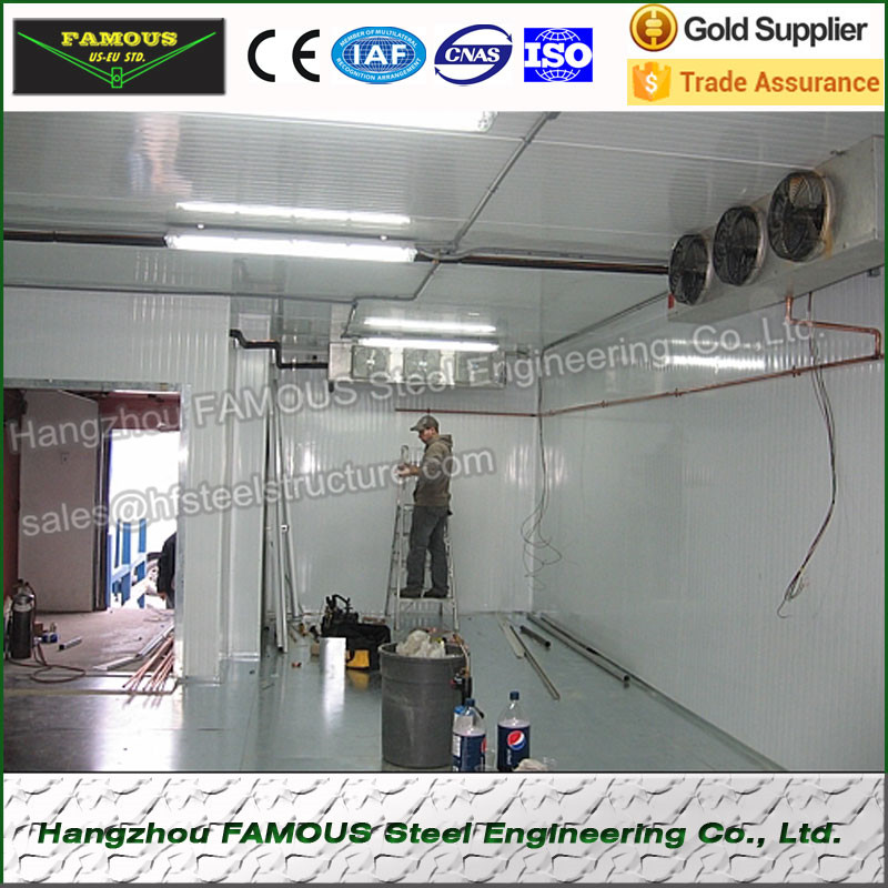 Cold Storage System Made Of Polyurethane Fireproof Panel, China Supply Industrial Blast Freezer And Refrigeration Unit