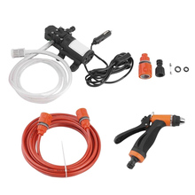 High Pressure 12V Portable 100W 160PSI Car Electric Washer Washing Machine Cigarette Lighter Water Pump Kit Accessories Parts