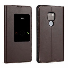 Genuine Leather Case For Huawei Mate 20 Flip Magnetic Cover Mate20 Window View Phone case Fundas