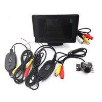3 w 1 Bezprzewodowy Uniwersalny Samochód Widok Z Tyłu Backup Kamera + 4.3 Cal TFT LCD Monitor Samochodów + 2.4G Wireless nadajnik i Odbiornik