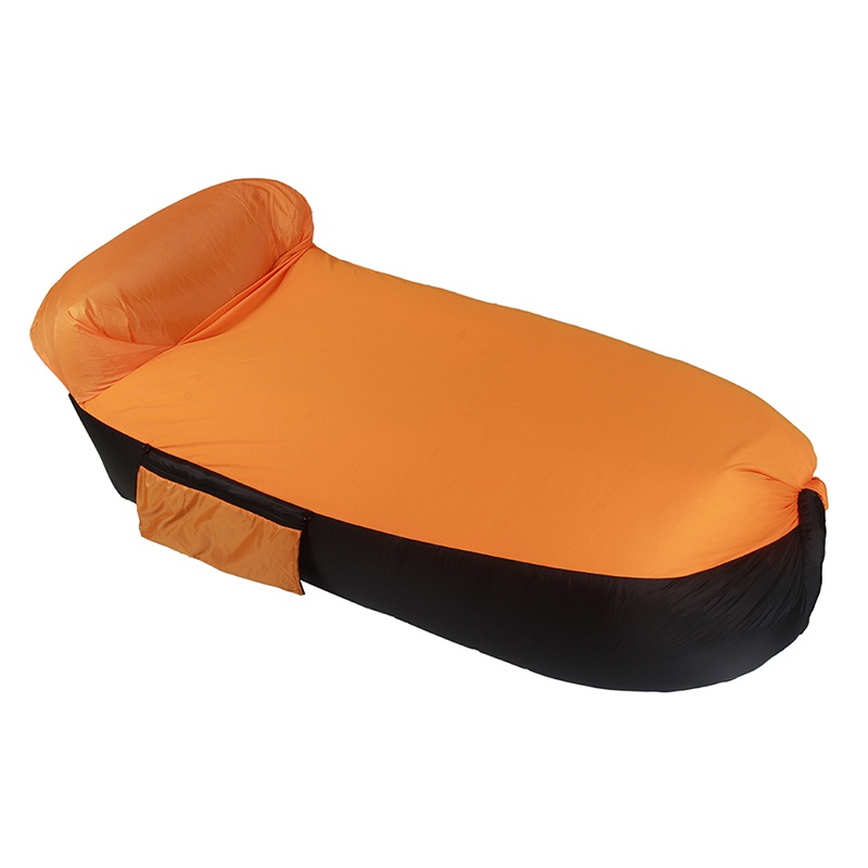 Collection Here Inflatable Outdoor Lazy Bag Air Sleeping Bag Interesting Camping Portable Air Sofa Beach Bed Air Hammock Terylene Sofa Durable Modeling Sleeping Bags Camp Sleeping Gear