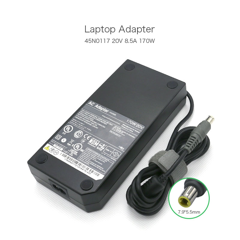 100% Original 170 W Laptop Ladegerät 20 V 8.5A 7,9*5,5mm Power Adapter für <font><b>Lenovo</b></font> W520 W530 W700 w701 45N0117 Notebook image