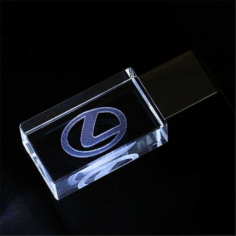 JASTER Lexus Crystal + Metal USB Flash Drive Pendrive 4GB 8GB 16GB 32GB 64GB 128GB External Storage Memory Stick U Disk
