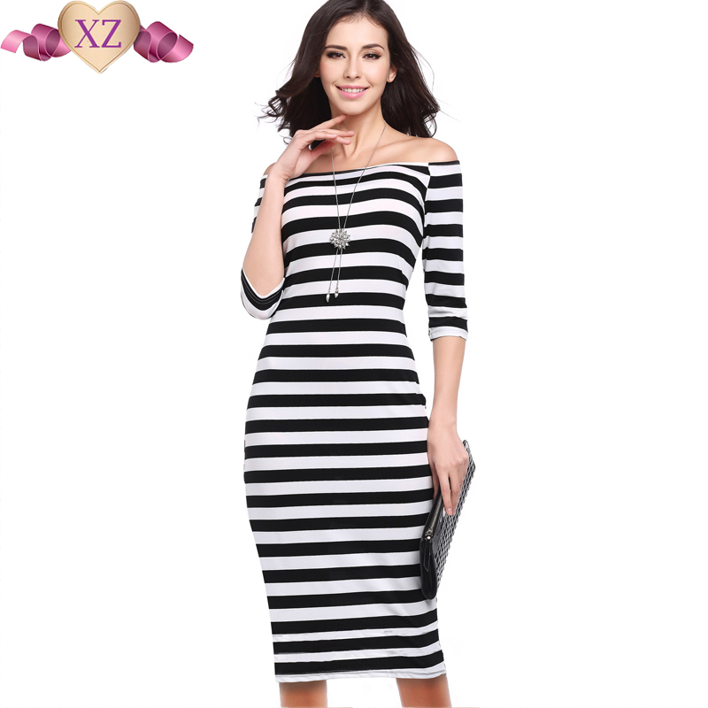 Online Get Cheap Black and White Striped Sundress -Aliexpress.com ...