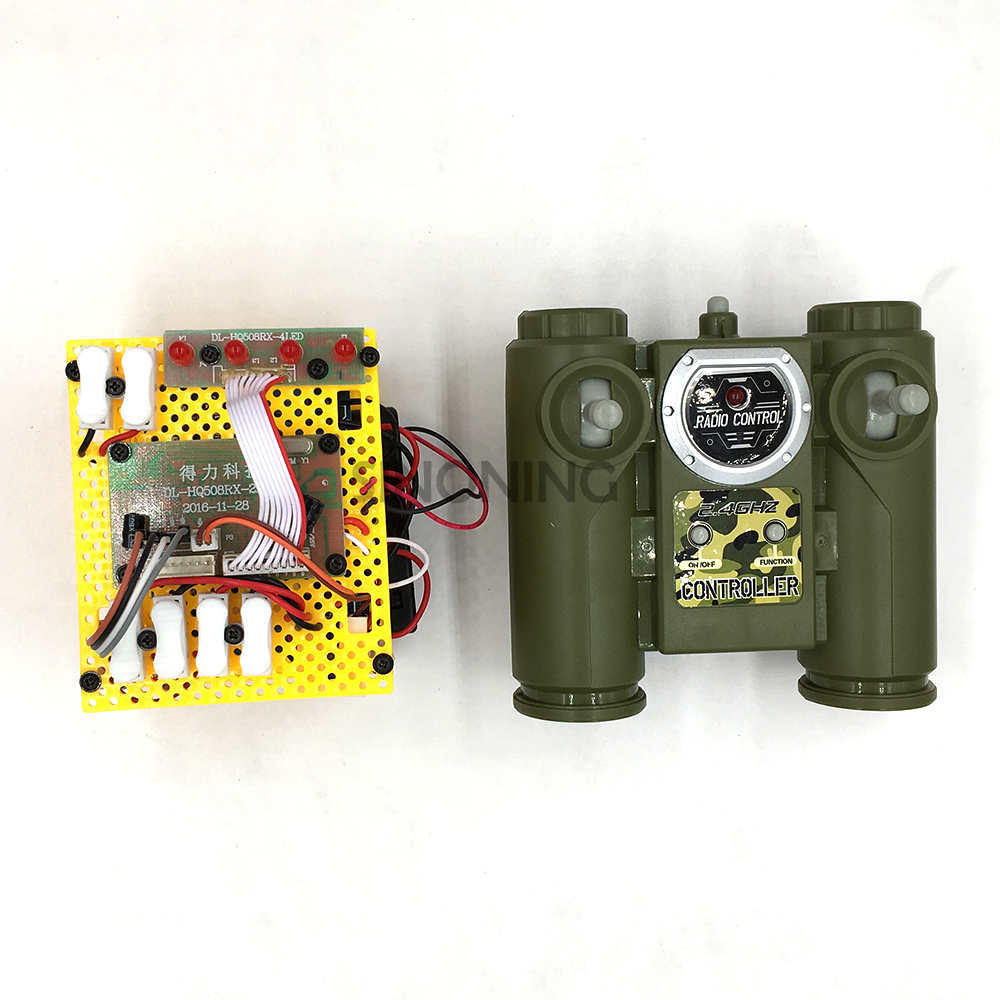 2.4Ghz six-channel high-power high current large-voltage intelligent tank robot remote control with receiver board