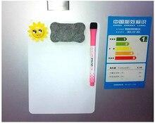 3 ชิ้น/เซ็ตไวท์บอร์ดแม่เหล็กตู้เย็นแม่เหล็กเช็ดแห้งสีขาวคณะกรรมการยางลบเขียนบันทึกข้อความเตือนMemo Pad