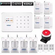 Kerui G18 беспроводной домашней сигнализации белый цвет с PIR motion датчик беспроводной пульт дистанционного управления