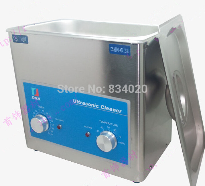 US $179 0 |Stainless Steel 2 8L Powerful Ultrasonic Cleaner for  Watches,Watch Parts,watchmaker tools-in Repair Tools & Kits from Watches on