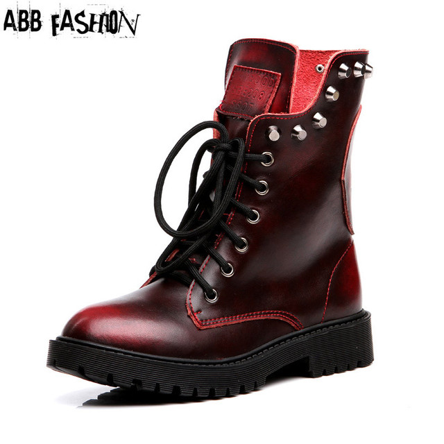 100% Genuine Leather Ankle Boots Women Motorcycle Boots Cowhide Woman Martin Boots Autumn Winter Unisex Printing Shoes #1338
