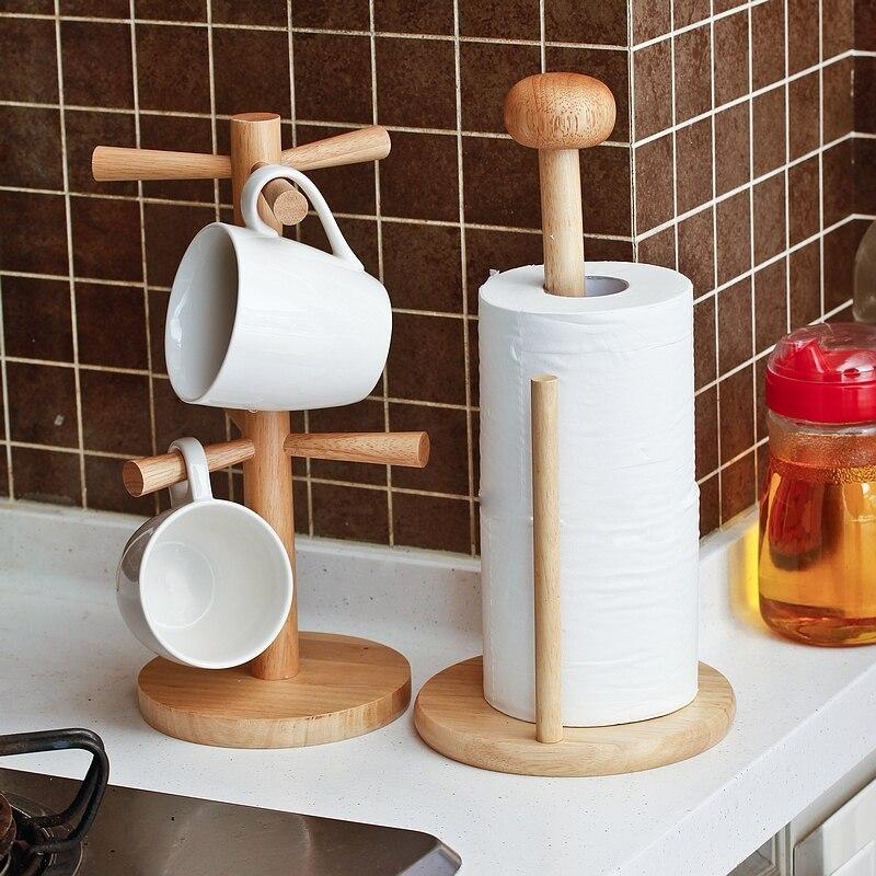 Wood Pig Kitchen Tissue Holder