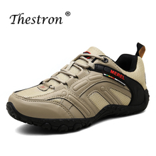 Thestron2019 Men Hiking Shoes Sneakers Rubber Mountain Climbing Leather Summer Outdoor Trekking Boots