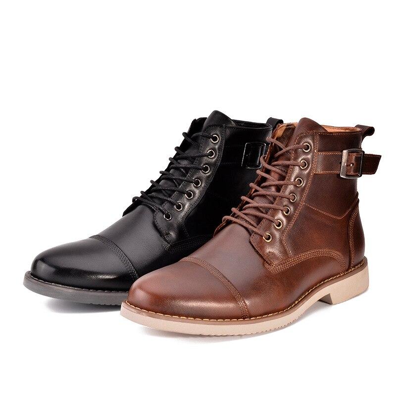 Bullock Rome Bottes Doux brown Brand Chaussures 2018 up Mâle Npezkgc Automne Mode Hommes New Dentelle Rétro Confortable Black Printemps TuF1clKJ3