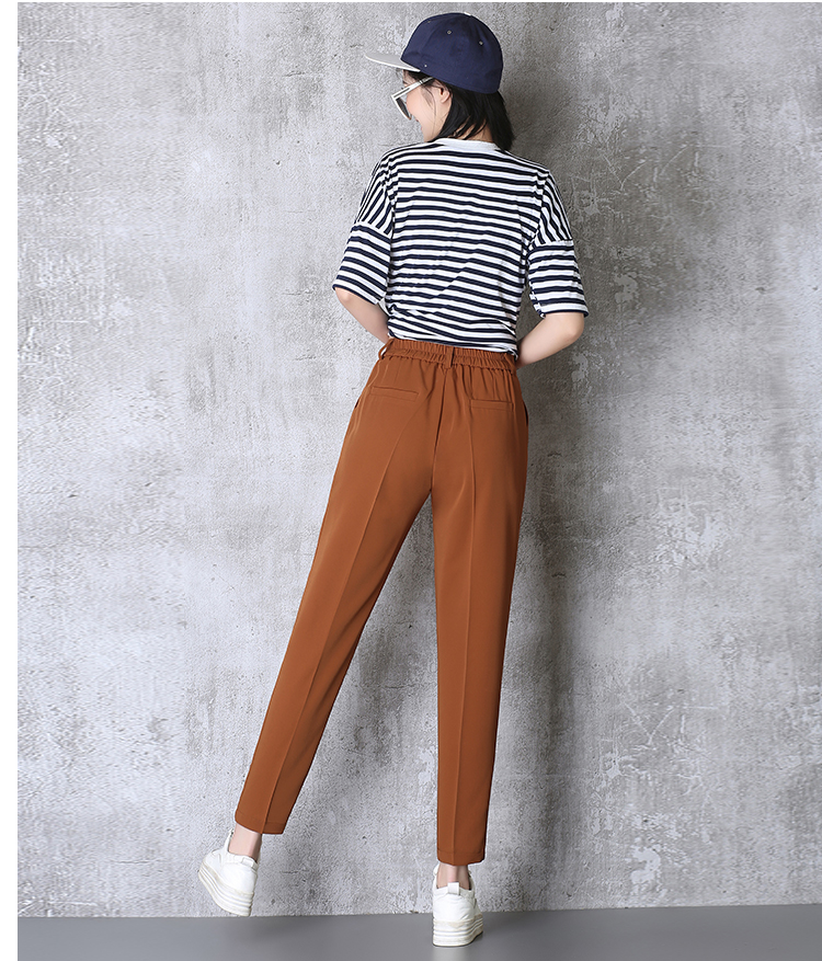 Hot Sale Harem Pants Women 19 Summer Autumn Pants Casual OL Pants Elastic High Waist Slim Work Pants Plus Size 3XL Trousers 7