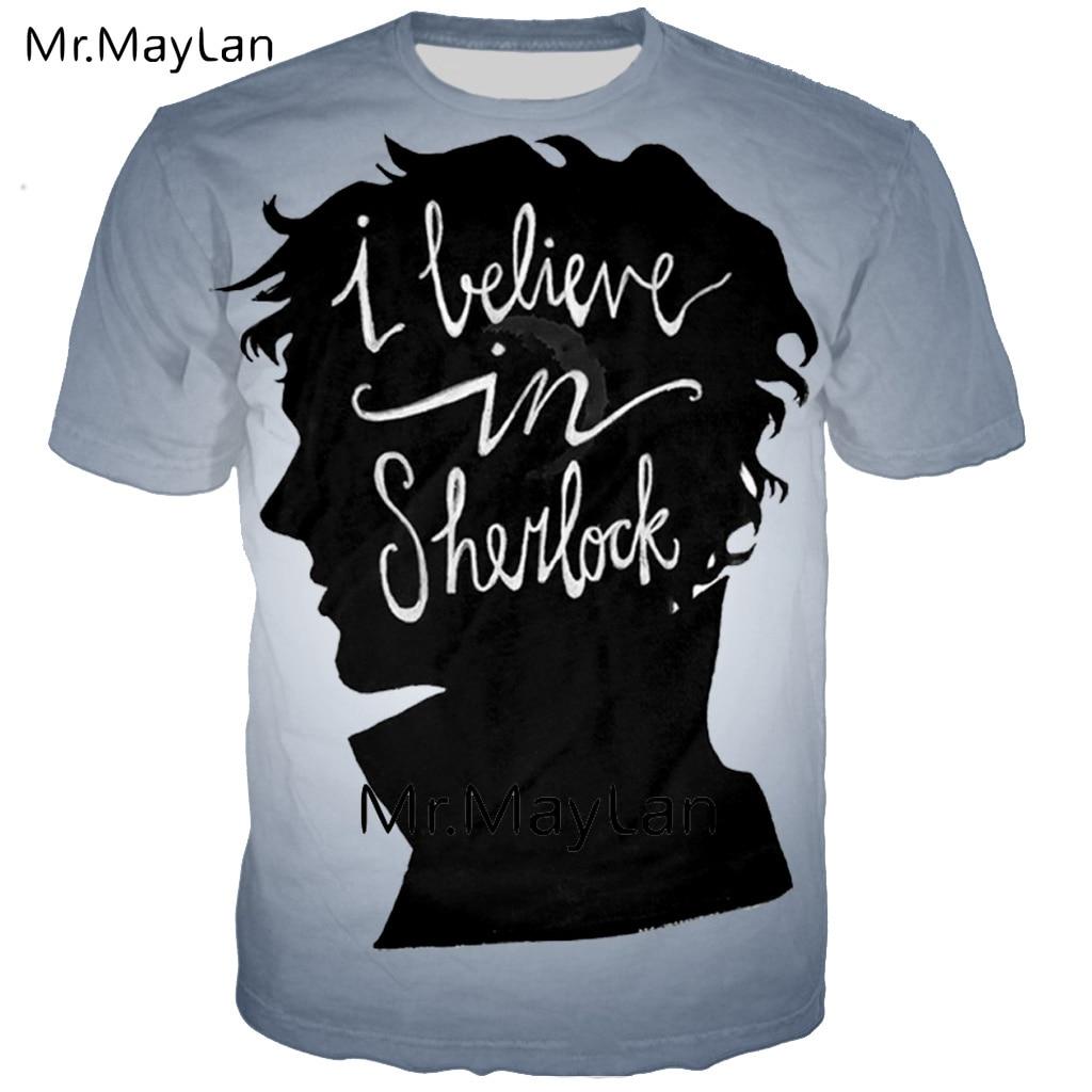 Harajuku 3D Print Sherlock Fiddle Tee Shirt Men women Gothic Streetwear T Shirt Men 39 x Fashion Tshirt Juvenil Clothes Big Size in T Shirts from Men 39 s Clothing