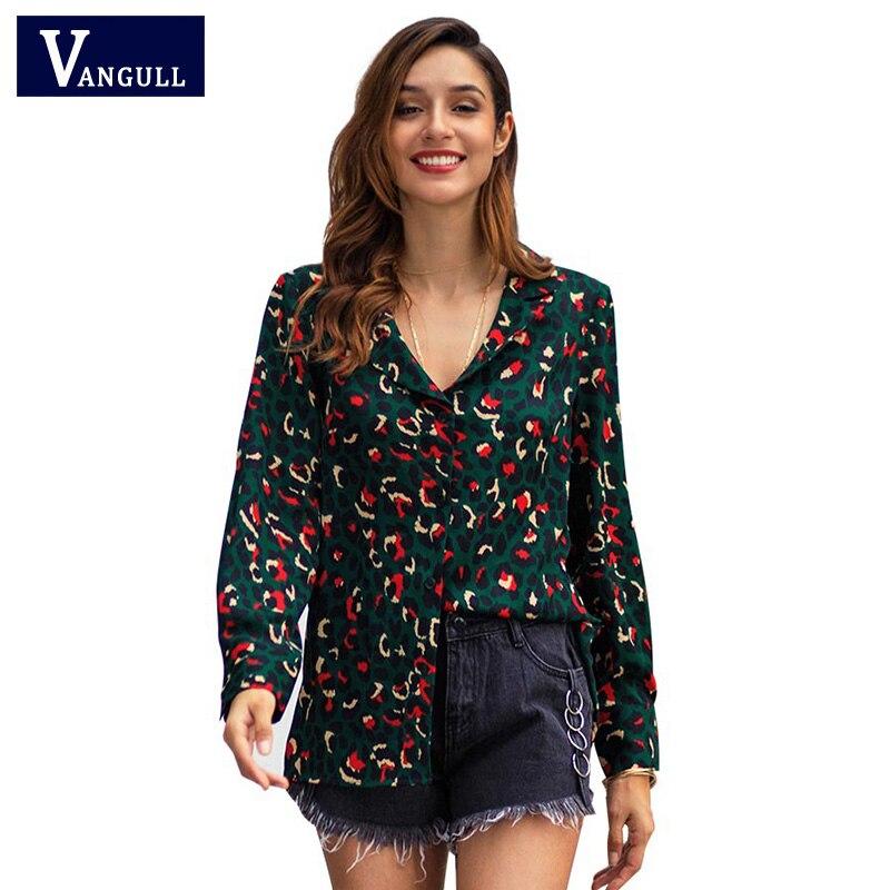 Blouses & Shirts Ingenious Vangull Sexy Leopard Print Shirt Women Blouse Turn Down Collar 2019 New Spring Casual Long Sleeve V-neck Blouses Elegant Tops Delaying Senility