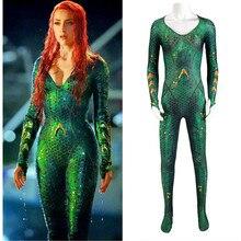 Цельный комбинезон Aquaman Mera Justice Alliance Sea after Mae La Hero, карнавальный костюм на Хэллоуин, Рождество, вечеринку