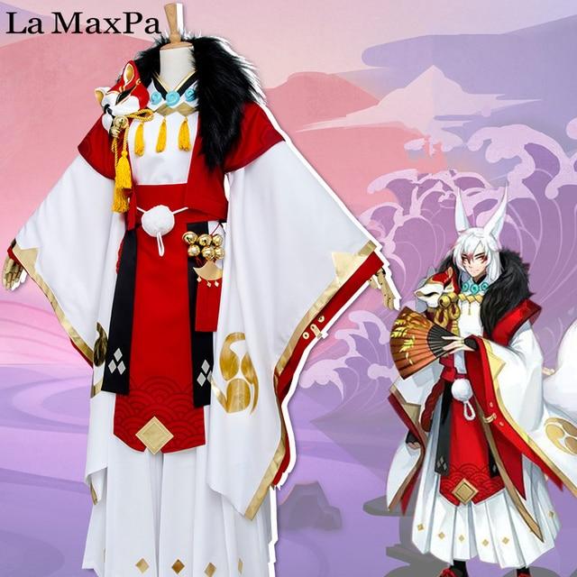La MaxPa Onmyoji Mobile Game Yohko Demon Fox Cosplay Japanese Anime Costume Girl Women Halloween