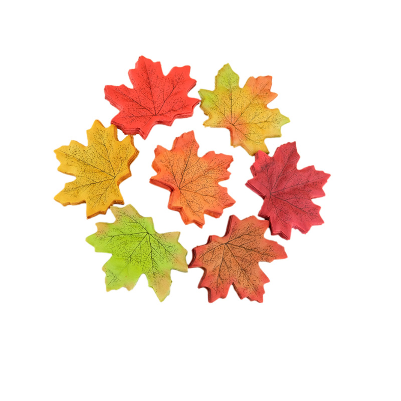 50pcs lot artidicial silk maple leaves multicolor fake for Artificial leaves for decoration