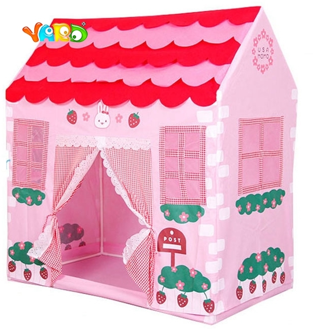 ФОТО Blue Pink Toy Tent Kids Playhouse Outdoor Indoor Tents Ball Pit Birthday Gift for Girls Boys