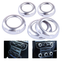 DWCX 5Pcs Car Styling Chrome Dashboard Console Switch Button Ring Cover Trim fit for Land Rover Discovery 4 Range Rover Sport