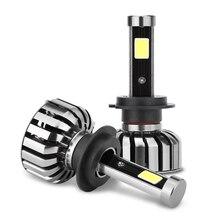 Valor 2 pcs H4 Farol Do Carro Levou H7 80 w 8000lm Hi/Low Light lâmpada H1 H3 880 H8 H11 9005 9006 substituir halogênio Automóvel farol