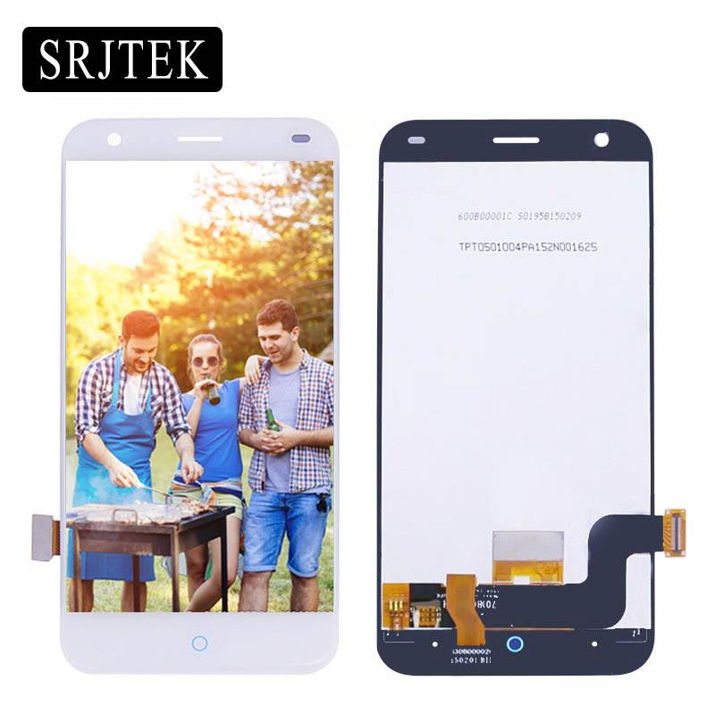 "Srjtek 5.0"" For ZTE Blade S6 LCD Display Touch Screen Digitizer Sensor Assembly 1280*720 For ZTE Blade S6 Lite White"