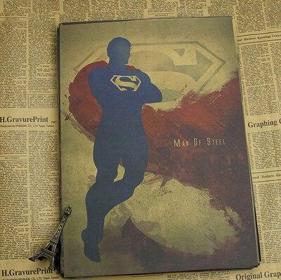 Cartel de Marvel superhéroes Batman/iron man/super man/Thor poster vintage retro